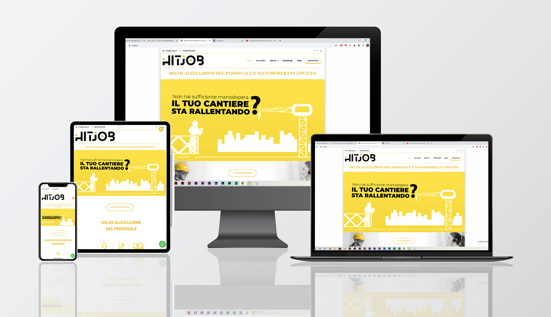 hitjob.it | This is a project i have done while working on Hitweb Company | © Hitweb.it